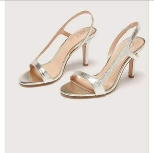 Shoes - Champagne silver colored size 9 wide